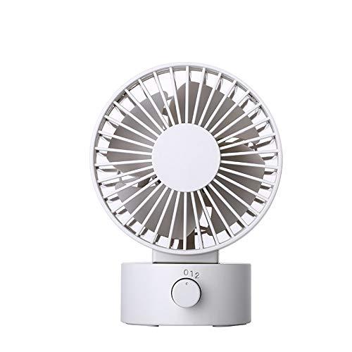 xinrongqu Mini Ventilatore USB Ventilatore Portatile con Ventilatore Double Side Bianco