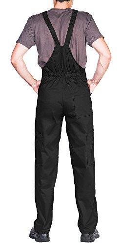 ProWear Arbeitslatzhose Herren Größen S-XXXL Arbeitshose Latzhose arbeits Latzhose Arbeitskleidung (S, schwarz) - 2