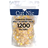 Cut-Nic 8 Hole Easy Draw Disposable Cigarette Filters - (1200 Filters)