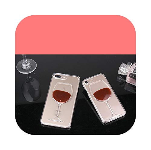 Carcasa líquida para iPhone 12 Mini 11 Pro Max XS XR X 8 7 Plus Samsung Galaxy S20 Plus Note 20 Ultra-Red Wine-for S10E
