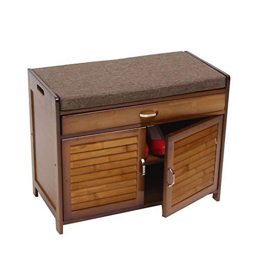 GWFENG schoenenkruk van massief hout, werkschoen, modern, minimalistisch, van massief hout, bewaardeur (afmetingen: 70 x 35 x 55 cm)