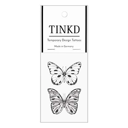 TINKD Schmetterling-Tattoo | Klebe- Tattoo Sticker Butterfly | Made in Germany