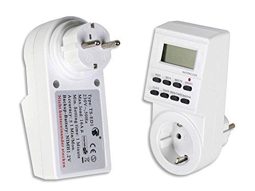 Vetrineinrete® Timer digitale multiuso elettronico per acquario cucina e altro presa temporizzata potenza massima 3600W schuko risparmio energia C32