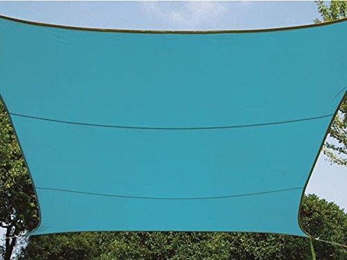 Perel GSS4430BL Sonnensegel - Rechteckig, Himmelblau, 400 x 300 x 0.2 cm