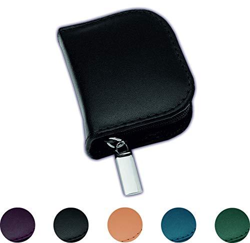 Homöopathie Taschenapotheke Klassik mit 10 Klargläsern Leder schwarz für Globuli