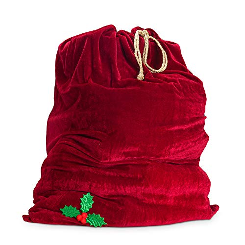 Sunnywood Men's Santa Drawstring Gift Bag, Red, One Size