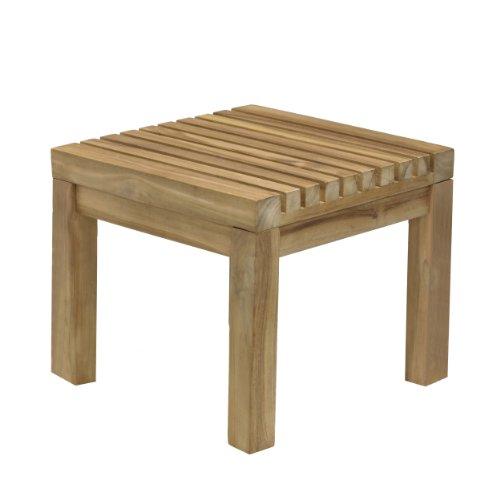 Jan Kurtz Nice Teak massief houten kruk tafeltjes binnen & buiten 492875