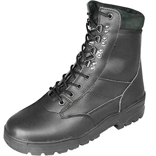 Mil-Com - Botas para hombre, color negro, talla 47