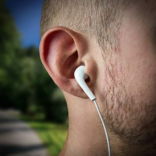 wortek Kopfhörer Set, kompatibel mit Original Samsung, Galaxy Kopfhörer 3 Stück In-Ear EHS64AVFWE Bulk Weiß mit wortek Displayputztuch