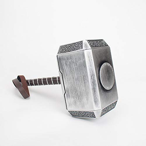 sookin Thor Martillo Cosplay Arma UtileríA 1: 1 Resina Halloween Thunder Hammer Modelo Marvel Super Hero Toy CumpleañOs de Navidad The Thor Battle Hammer Thor Martillo Modelo 1: 1