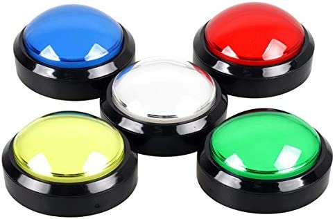 EG STARTS 5 Pcs lot Arcade Buttons LED 100mm Big Dome Shaped 12V LED Push Button Switch Compatible product image