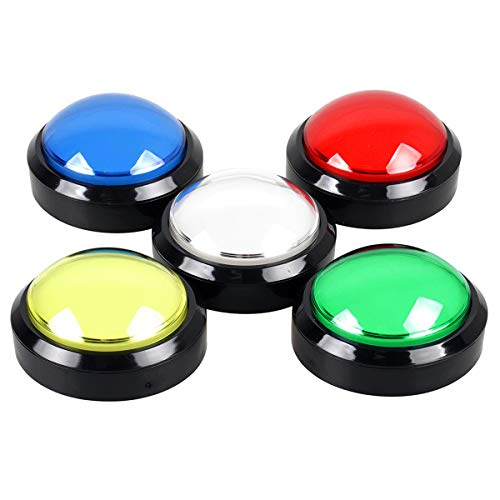 EG STARTS 5 Pcs/lot Arcade Buttons LED 100mm Big Dome Shaped 12V LED Push Button Switch Compatible for Arcade Machine DIY Kit Video Games Parts Pop'n Music