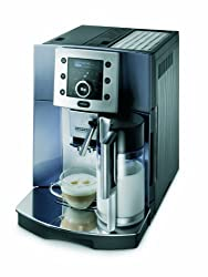De'Longhi Perfecta ESAM 5500.S Coffee Machine (1,8 l, Digital Display, Integrated Milk System, Conical Grinder, 13 Stage Grinder, Removable Brew Group, 2 Cup Function) Silver