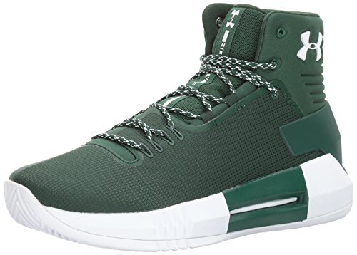 Under Armour Men's Team Drive 4 Basketball Shoe, Forest Green (301)/Forest Green, 8