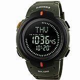 Sports Watch,50M Waterproof Multi-function Compass Outdoor Climbing Men's Sports Watch Gift(Green)