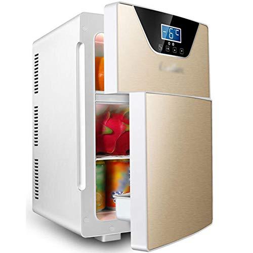 Mini refrigerador portátil, refrigerador de control de temperatura de pantalla digital refrigerador inteligente, congelador AC/DC Aislamiento-Oro (tres núcleos)_20l