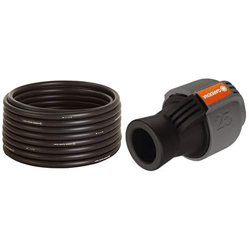 Gardena Sprinklersystem Verlegerohr: Die zentrale Versorgungsleitung für das Gardena Sprinklersystems & Sprinklersystem Verbinder: Verbindungsstück für Rohranschluss, 25 mm x 3/4 Zoll-Innenewinde