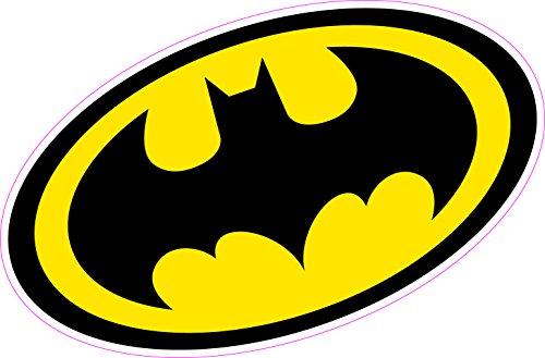 Batman Logo escudo coche portátil de pared vinilo adhesivo Superhéroe de cómic