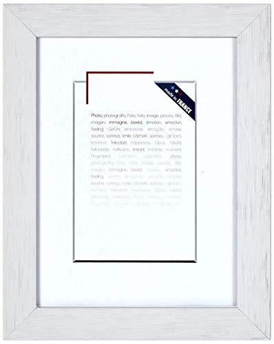 Brio 104071 Karma marco de fotos de madera 40 x 50 cm, color blanco