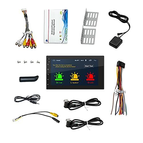 HD Car Player Coche Radio Universal GPS Navegación Borracha Conducción Humana Alcohol Prueba Alcohol All-in-One Android 10.1 16 G Memoria 7 Pulgadas Toque Botón