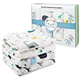ARUGUMBABY Mussole - Manta de bebé 100% algodón orgánico con certificado GOTS, toalla de bebé, sábanas de cuna – 120 x 120 cm a cuadros de algodón para bebé – 4 piezas, fantasía unisex
