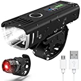 POWLAKEN LATEST 2020 Bike Light Set, USB Rechargeable Super Bright LED Waterproof Headlight Front Lights and...