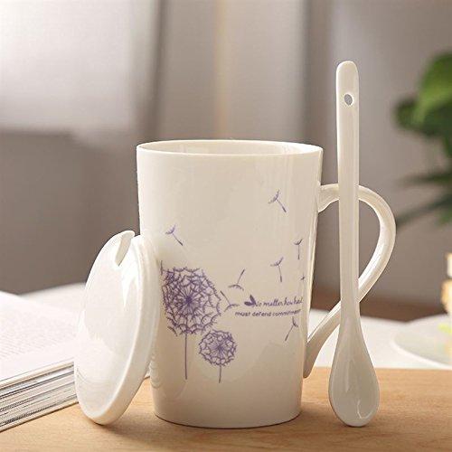 Copa creativo Mugcap tapa cuchara Desayuno Continental Café Taza de leche taza...