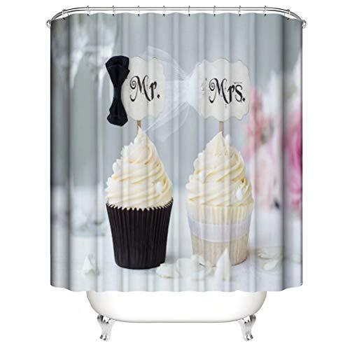 ZZZdz Köstlicher Kuchen. Haus Dekoration. Duschvorhang: 180X180 cm. 3D Hd Druck. Wasserdicht. Einfach Zu Säubern. Badezimmerzubehör.