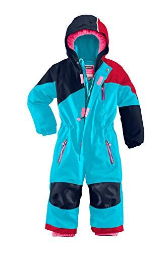 Killtec Kinder Kesley Mini Skioverall/Schneeanzug Mit Kapuze, 10.000 Mm Wassersäule, Wasserdicht, Türkis, 122/128