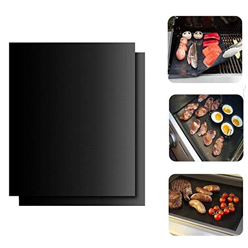 123 Life 2 x Teflon Non-Stick Oven Liner Heavy Duty BBQ Grill Mat 40 x 50cm- Keeps The Bottom of Ovens Clean