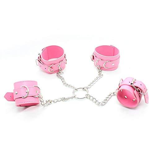 Leaysoo Adult Lieferungen Handschellen Fesseln Bondage Erotic Passion Toys Sadist Restrained,Rosa