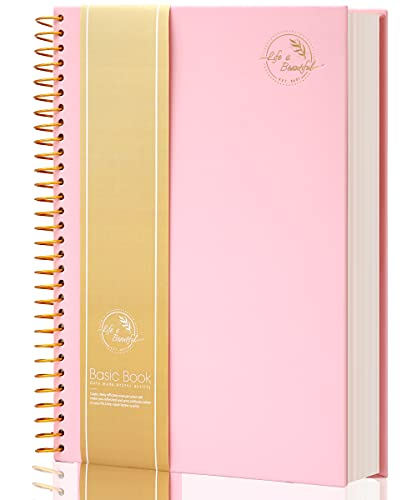 Hardcover Spiral Notebook 150 Sheets 3 Subject Large College Ruled Notebook for Office Meeting Notebook College Essentials Composition Notebook Wire Bound Journal School Supplies, Pink