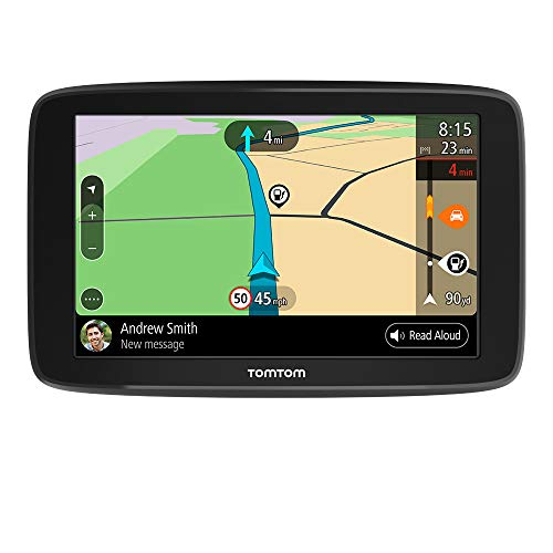 TomTom Car Sat Nav GO Basic, 5 Inch, with Traffic Congestion and Speed Cam Alert Trial Thanks to TomTom Traffic, EU Maps, Updates via WiFi, Integrated Reversible Mount