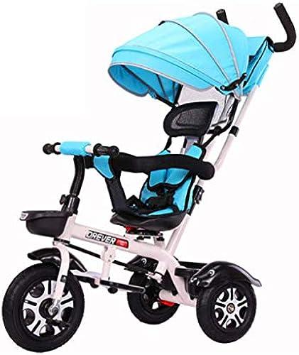 Kinder Dreir r Trike Baby, ZWeißege-Wagen 3 in 1Rotation drehbar überGröße Sonnensegel Bequem Verstellbare Rückenlehne Geeignet Shopping Travel 1-6 Jahre alt (Farbe   C)