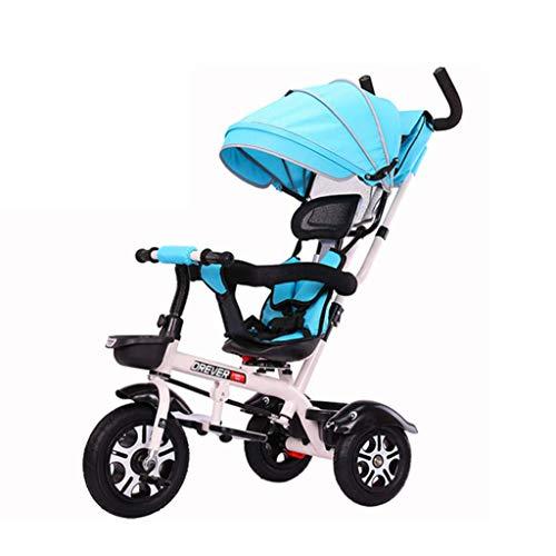Kinder Dreiräder Trike Baby, Zwei-Wege-Wagen 3 in 1Rotation drehbar Übergroße Sonnensegel Bequem Verstellbare Rückenlehne Geeignet Shopping Travel 1-6 Jahre alt (Color : C)