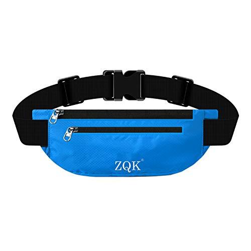 Laufgürtel Schlüssel Hüfttasche, Lauftasche für Handy, Sport Jogging Fitness Gürtel iPhone 6 7 Plus + Samsung Galaxy S7 Edge S8 + Plus Huawei HTC ZTE UVM. (Blau)