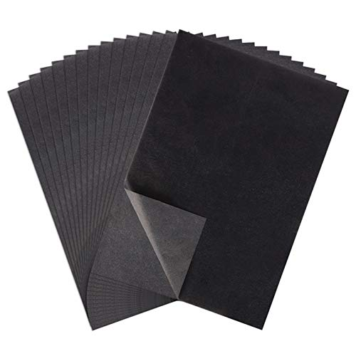 Gitua 100 Blatt Kohlepapier, A4 Schwarz Pauspapier DIY Handwerk Transferpapier für Holz Papier Leinwand Glas Keramik und Andere Oberflächen