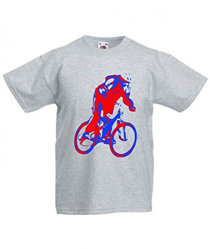 Camiseta para ciclistas, ciclismo, deporte, ciclismo, ciclismo, ciclismo, ciclismo, ciclismo, casco de Ciclismo, JUNG, rojo, azul, ERHOLUNG, ciclismo, tiempo libre, para hombre, mujer, niños, 104 – 5XL gris Mujer Gr.: XX-Large