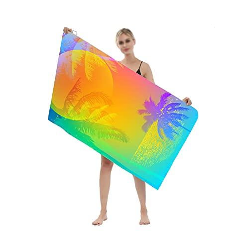 YSPS Toalla de Playa de Microfibra, Extra Grande, Secado rápido, Suave, Ligero y Compacto, sin Arena, sin Toalla para Acampar, Viajes, Playa, natación