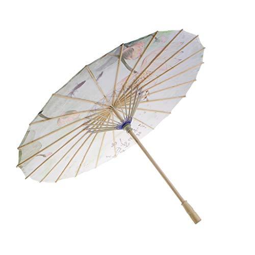 Regenschirm Sonnenschirm Deko Schirm Tanz Schirm, Chinesischer Stil, aus Bambus und Seidentuch - C