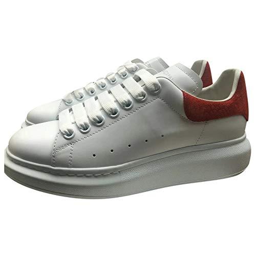 Alexander McQueen White/Red Croc Print Heel Oversize Sneakers New SS21 (Numeric_10)