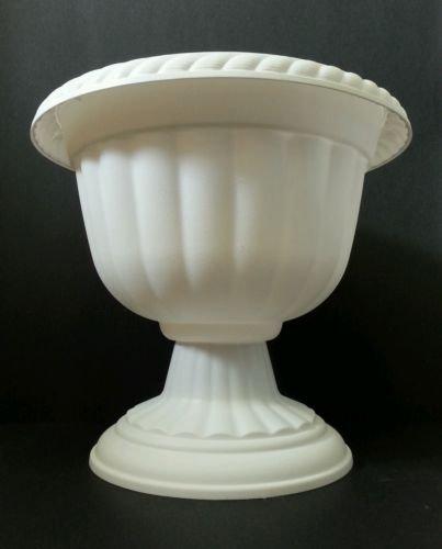 """12"""" Diameter Sparta Pedestal Urn by Landmark PLastics (3, White)"""