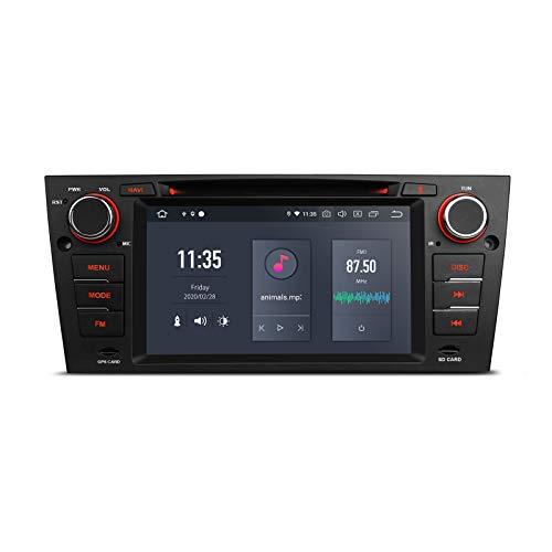 XTRONS Android 10 Car Stereo Radio DVD Player Hexa Core 4G RAM 64G ROM GPS Navigation 7 Inch Touch Screen Head Unit Supports Android Auto HDMI DVR Backup Camera OBD for BMW E90 E91 E92 E93 325 328