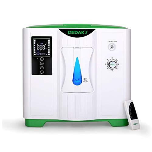 DEDAKJ Concentratore di Ossigeno, 2-9L/min il Flusso 30%-90% Regolabile Concentrazione Ventilatore Polmonare Portatile, DDT-2A