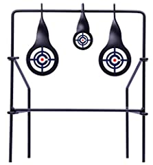 """DURABLE ALL-METAL FRAME TARGET FACES IN TWO SIZES TO CHALLENGE YOUR SKILLS - Extra set of target face decals included FOLDS FOR EASY STORAGE AND PORTABILITY USE WITH .177-CALIBER AND .22-CALIBER PELLET AIR RIFLES """"TAKE IT OUTSIDE"""" WITH CROSMAN"""