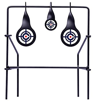 Crosman CSLT Metal Spinning Target For Use With .177-Caliber And .22-Caliber Pellets  Black