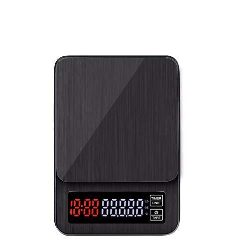 El café del hogar pesa 0.1g cronometraje balanzas electrónicas de cocina balanzas de café hechas a mano con fuente de alimentación USB DC-10kg1g