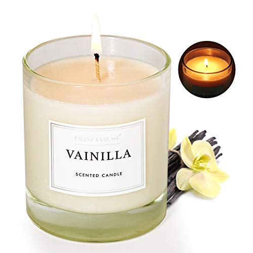 Vanilla Scented Jar Candle for Home 8.8oz Relaxing Soy Wax Candles for Men and Women Aromatherapy 45H Long Lasting