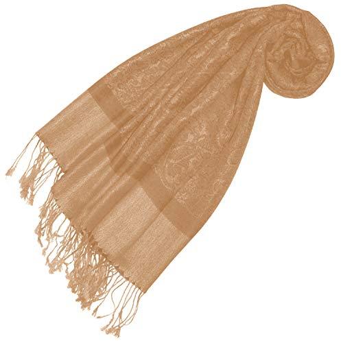 Lorenzo Cana Designer Pashmina Marken Schal gewebtes Pasiely Muster Damast - Webart 70 cm x 180 cm Naturfaser Modal Schaltuch Schal Tuch Jacquard 9322177