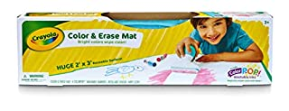 CRAYOLA 04-0034 Color & Erase Mat, Bright Colours wipe clean, Features Color Pop Washable Inks, Perfect for Travel, Drawings magically wash away with eraser tool, just roll up when finished and store away! 3+, 2 x 3 Inches (B01M5DQV4D) | Amazon price tracker / tracking, Amazon price history charts, Amazon price watches, Amazon price drop alerts